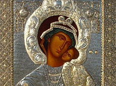The miraculous icon of St. Bogorodica Eleusa in Bachkovski monastery