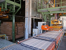 Assembly line for production of bricks in Keramat JSC