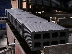 Manufacture of Fourfold lattice bricks in Keramat JSC