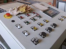 Control panel of the assembly line for production of bricks in Keramat JSC